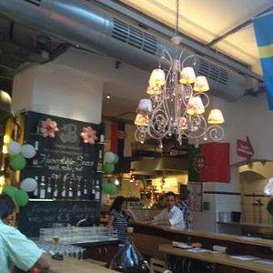 a bar at the Market Hall