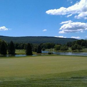 17th green on The Founders Course at Penn National