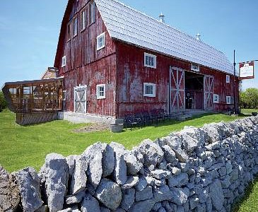 Front of the barn