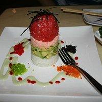 Wabora sushi tuna tower