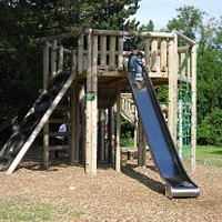 new wooded play area at rear of park