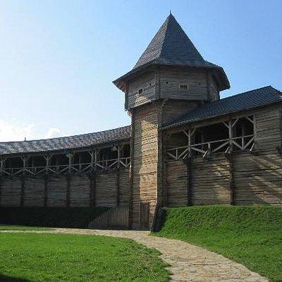 Inside the walls at Baturyn Fortress April 2012