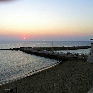 Il molo al tramonto