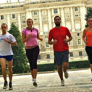 Running passed Madrid's Royal Palace...