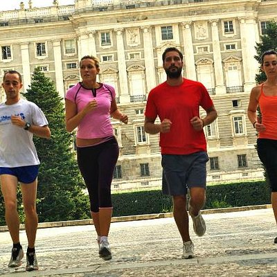 Running passed Madrid's Royal Palace...
