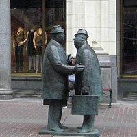 The Conversation by William McElcheran, on Stephen Avenue Walk