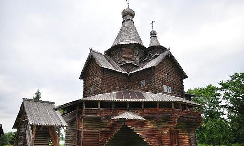 One of the Wooden house in the Museum