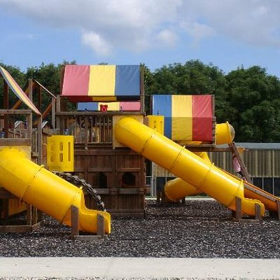 The outside play gym