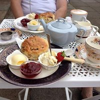 lovely Cream Tea on vintage china...delicious !!