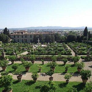 giardino di villa medicea di castello