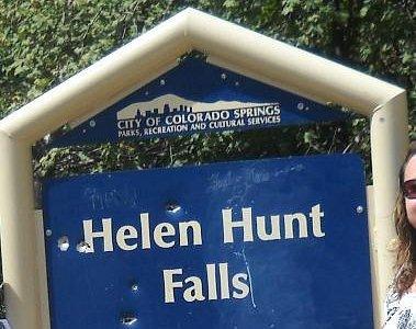 Helen Hunt Falls sign