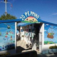 L'accesso alla spiaggia gestita dal Bagno 20 - Peppino