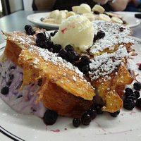Stuffed french toast, so delicious!