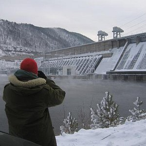Tour to the Krasnoyarsk dam - the pride of Soviet engeneering.