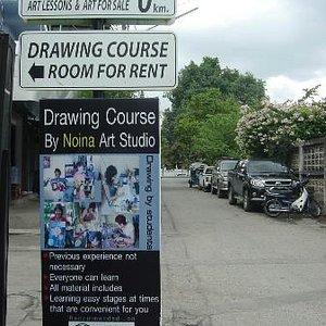 #Art school in Chiang mai #Art work shop #Noina art studio #Best thing to do in Chiang mai