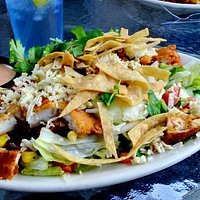 Santa Fe Chicken salad was good.  Be aware: the dressing is spicy and the chicken is breaded.