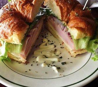 Smoked Turkey Croissant-- so yum