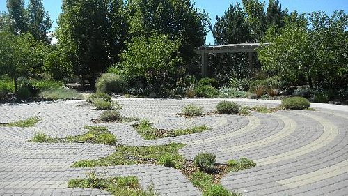 Contemplate or meditate at the labyrinth garden.