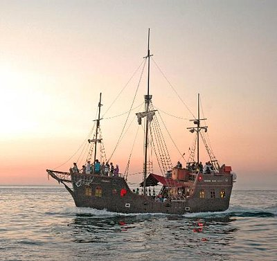 A sunset cruise on the Jolly Roger