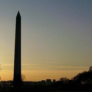 "Washington Monument At Dusk During ""Mouments at Night."""