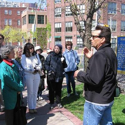 Bruce Bell leading a tour in Toronto