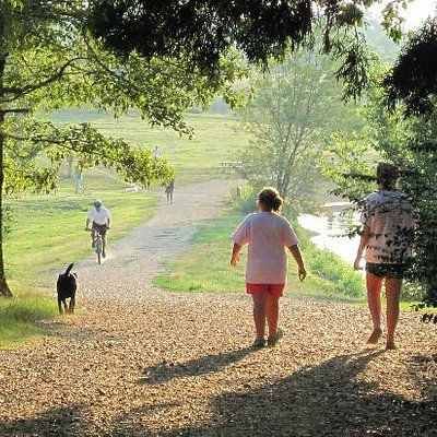 The Best Dog Park EVER!!!!!! Hundreds of acres of trails, feilds, paths and lakes.