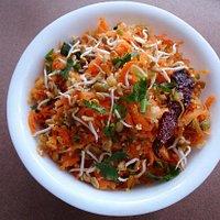 Sprouts and carrot kosumbari