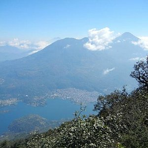 view from the top of the volcano san pedro