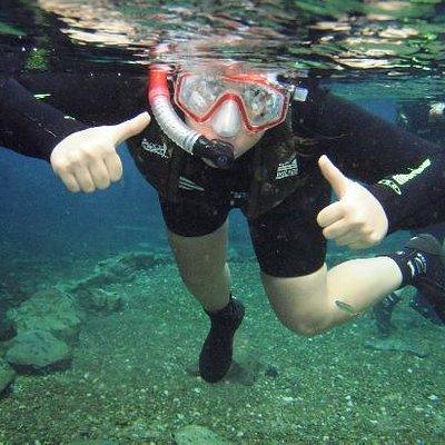 Àrea de treinamento para a flutuação