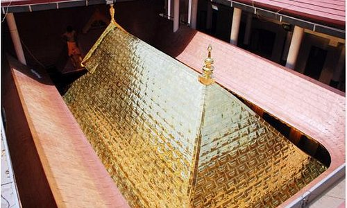 Top View of the Gold Plated Temple