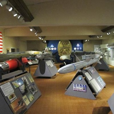 One interior room full of missiles and bombs in China Lake Museum