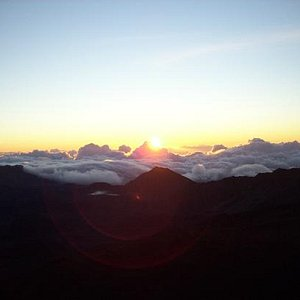 Sunrise And Bike Down The Volcano - October 16, 2012