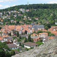 Blick vom Wilden Stein auf die Büdinger Altstadt