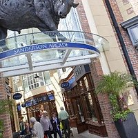 The Bull Sculpture at Sanderson Arcade