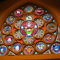 Wonderful Rosette Stained Glass Window - Lerwick Town Hall