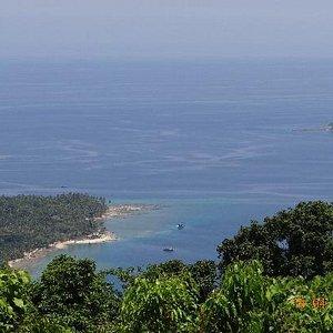 top view from mount harriett