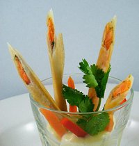 Crispy Salmon Sticks with Wasabi Mayonnaise