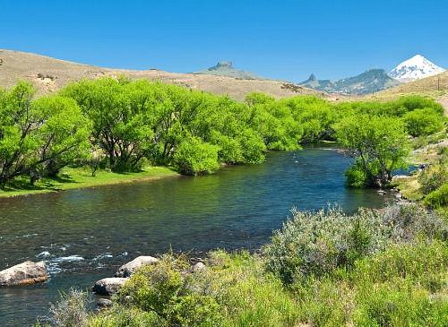 Malleo River, we do wading trips here.