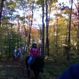 riding in the fall colors