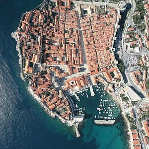 Dubrovnik Old City from the air.