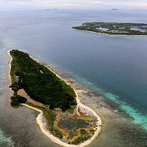 A view from the top of the Little Sta Cruz Island in Zamboanga City