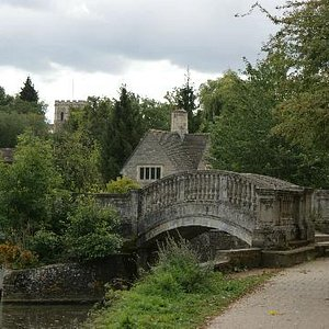 View of Iffley Lock with Norman Church