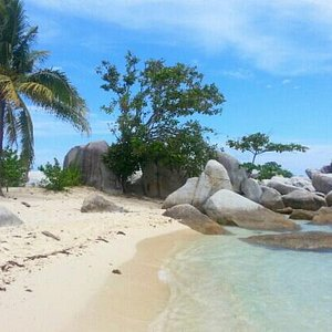 Beautiful natural beach