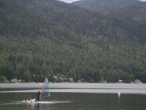 Sailing on Christina Lake