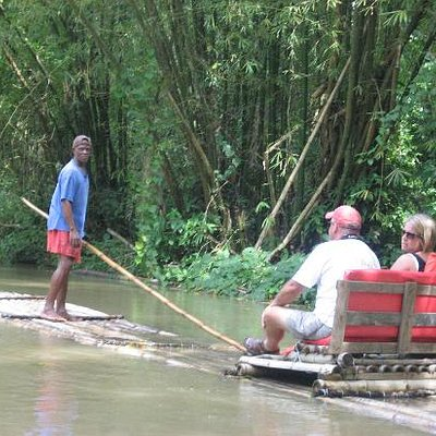 Bamboo river raft ride, Discover Falmouth Tour