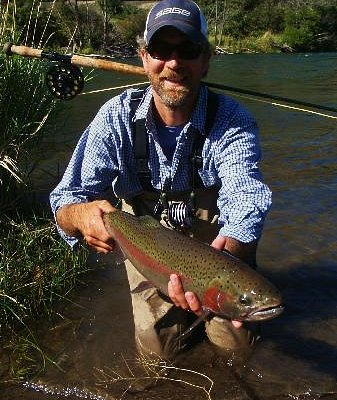 Dan with a Deschutes Steelhead