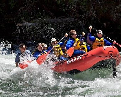 Rafting on the Moyie River