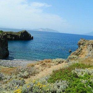 One of the 2 beaches sorounding the Cala.