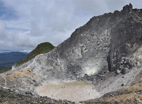 .der Krater des Sibayak...