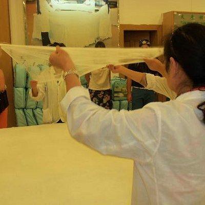 Making the silk inner for a quilt / doona / duvet